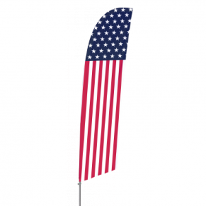 Bowflag® Stock Design Star and Stripes Feather Flag