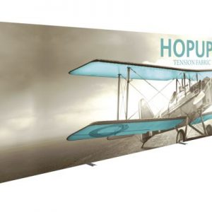 HopUp 30ft Straight Full Height Tension Fabric Display - Graphic Only