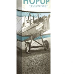 HopUp Display 2.5ft Full Height Tension Fabric Display - Graphic Only