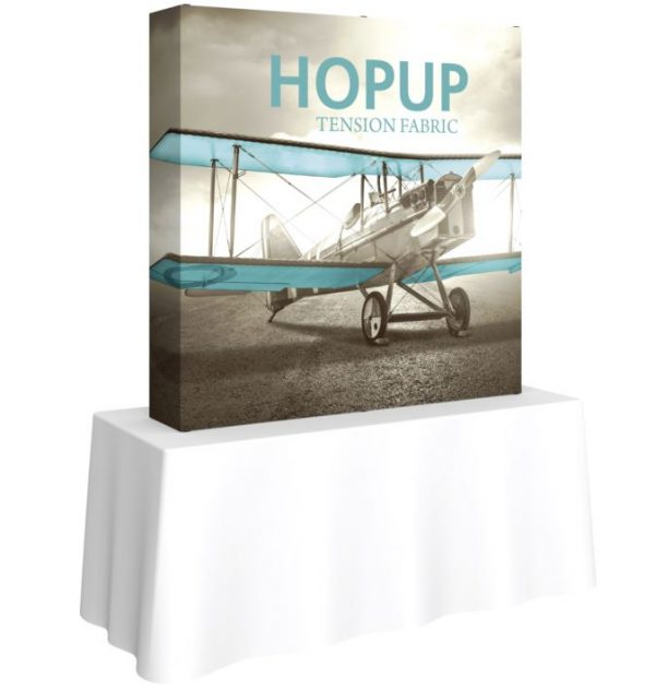 HopUp Display 5.5ft Square Tabletop Tension Fabric Display - Graphic Only
