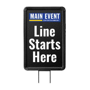 Main Event 8 Way Swivel Stanchion Sign