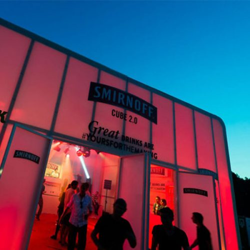 Mobile Pop-Up Retail RGB Lighting Mood For Events
