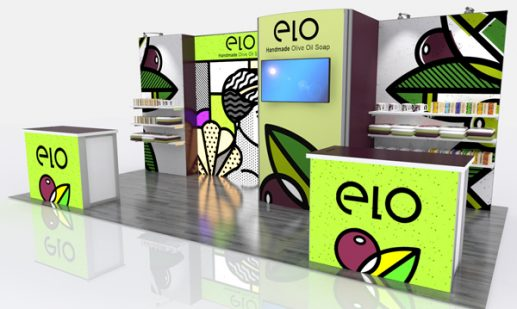 Retail ELO 10'x10' Curved Modular Display System GK-1013