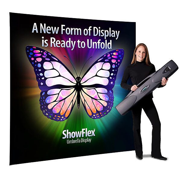 Showflex Freestanding Display F Series Banner Stand Tension Fabric Displays