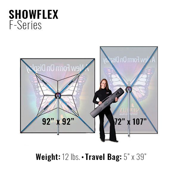 Showflex Freestanding Display F Series Different Sizes Banner Stand Tension Fabric Displays