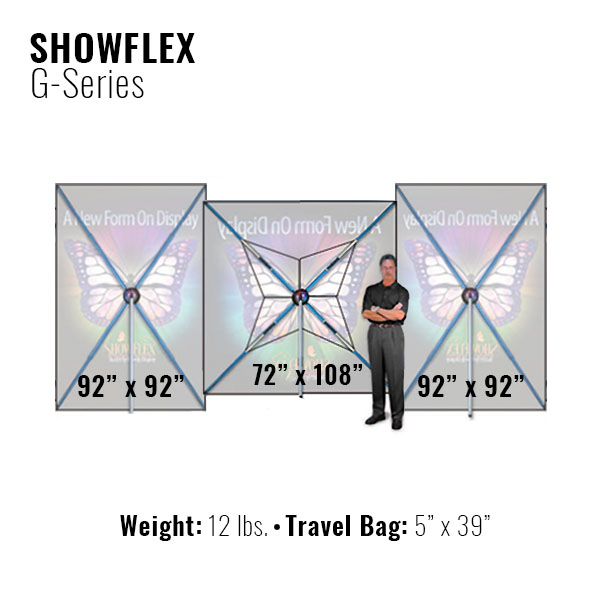 Showflex Freestanding Displays G Series Different Sizes Banner Stand Tension Fabric Displays