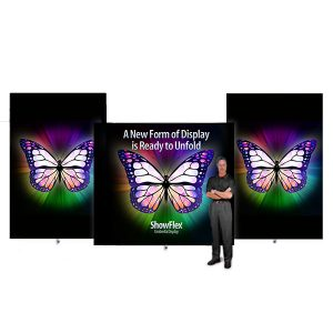 Showflex Freestanding Displays G Series Tension Fabric Display