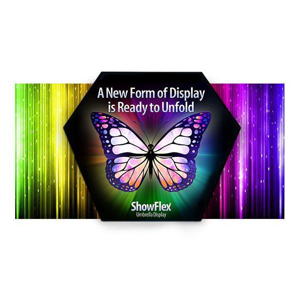 Showflex Freestanding Hexaframe Display Tension Fabric Pop-Up Displays