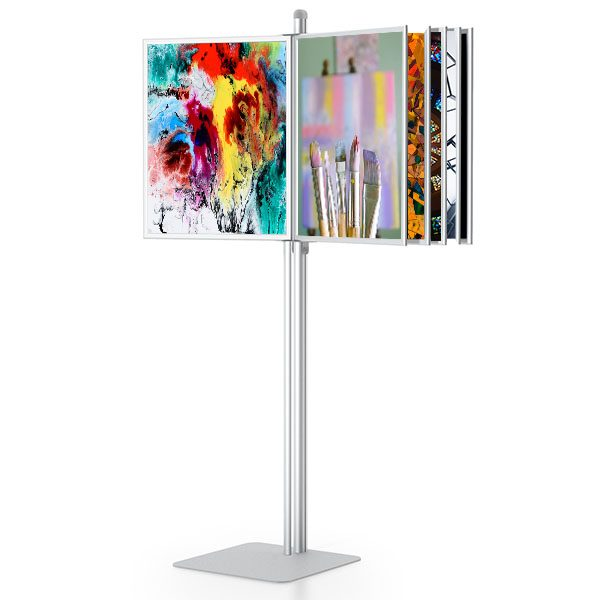 SwingWing Sign Frames Stand Kiosk Model With Graphics