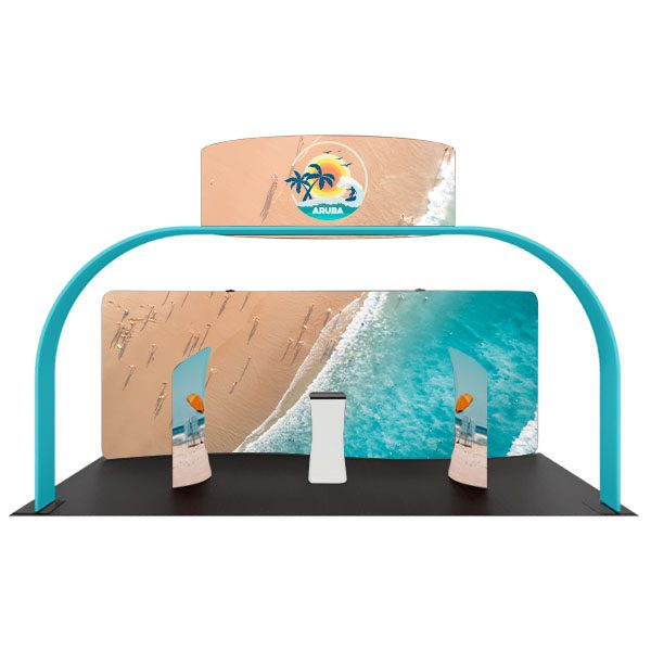 Aruba 20' Waveline Booth Kit Front View