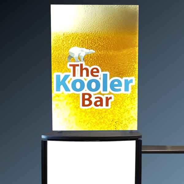 Portable Bar Printed Panels