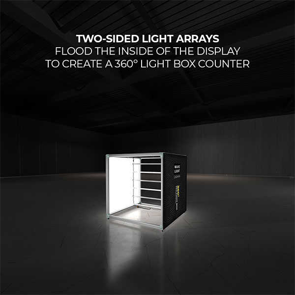 Wavelight Casonara SEG Light Counter Display - 100L