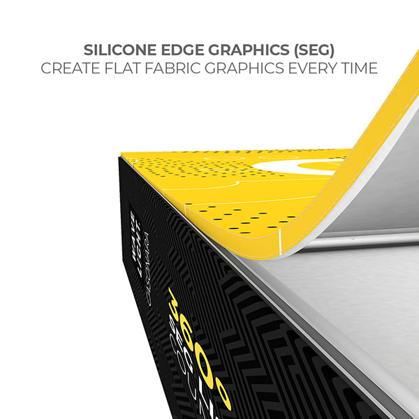 Wavelight Casonara SEG Light Counter Display - Silicone Edge Graphics SEG