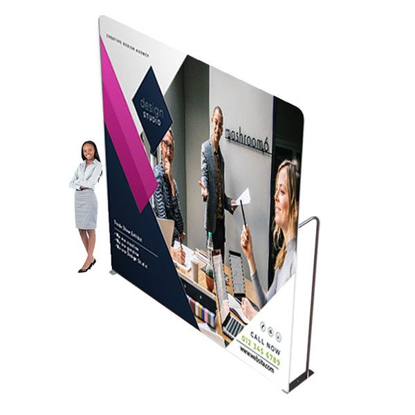 10ft x 12ft Waveline XL Media Panel Tension Fabric Display With Full Color Graphics