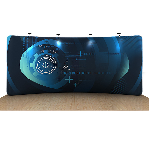 20ft curved waveline displays
