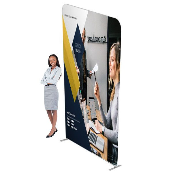5ft Waveline XL Media Panel Tension Fabric Display With Full Color Graphics