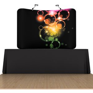 8ft curved table top waveline displays