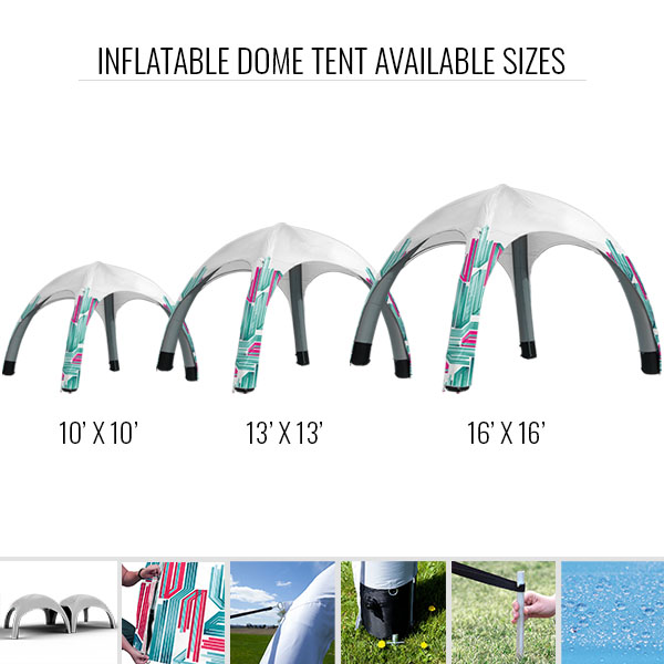 Inflatable Dome Tent Available Sizes