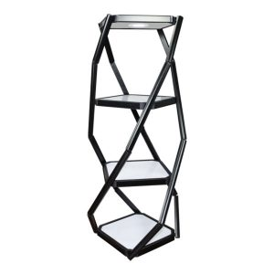 Twist Portable Display Cabinet With Lights - 3 Shelves
