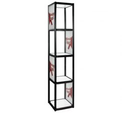 Twist Portable Display Cabinet With Lights - 4 Shelves