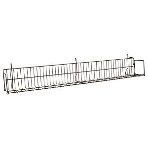 "48"" Gridwall Shelf - Black"