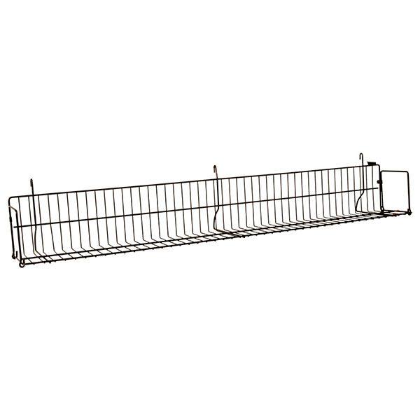 "48"" Gridwall Shelf - Black"