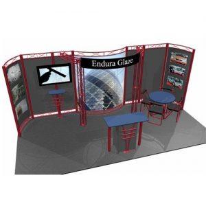 Hyperlite Hybrid Truss / Extrusion Display System - 10 x 20 Virtua