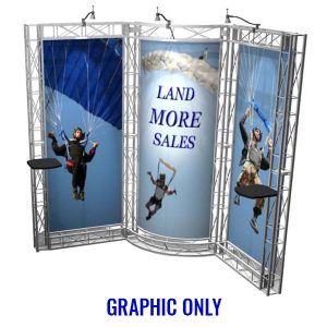 Aptos EZ-6 Truss 10x10 Booth Graphic Only
