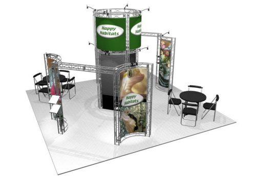 ASHBURY 20′ x 20′ EZ6 Exhibit Booth Truss Kit