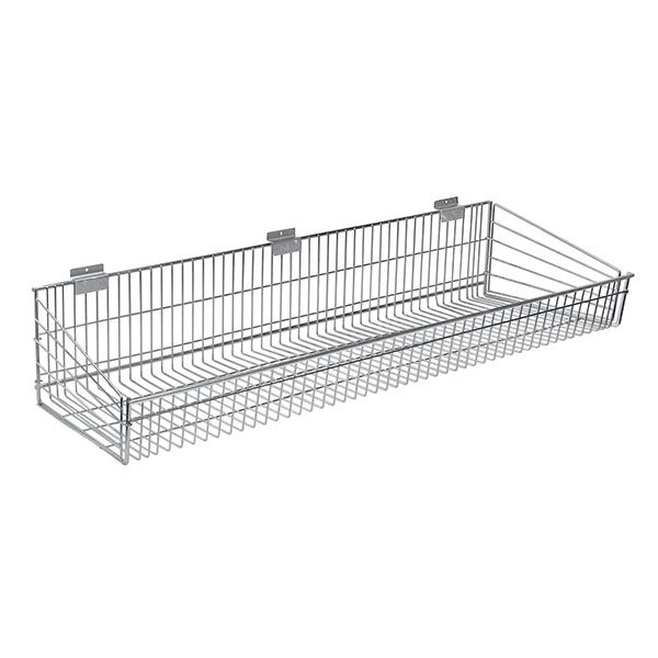 Endless Wire Slatwall Shelf - Chrome