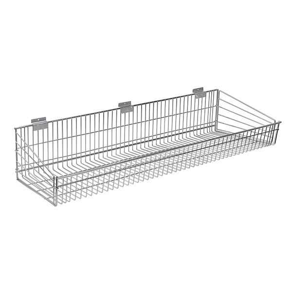 Endless Wire Slatwall Shelf - Chrome