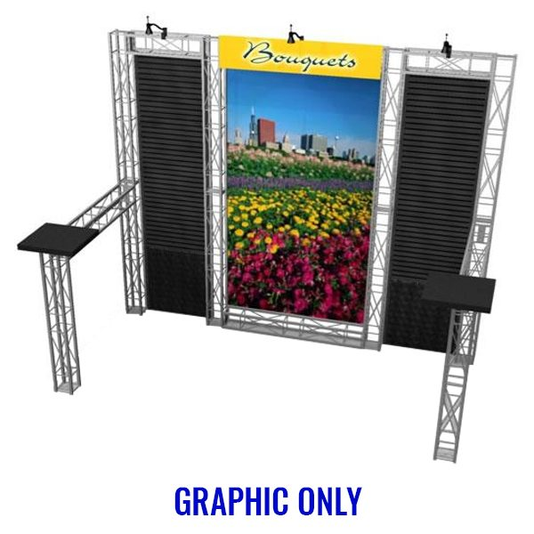 EZ-6 Belmont 10x10 Booth Graphic Only
