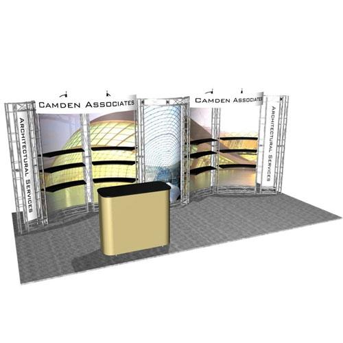 EZ-6 Pacifica 10x20 Trade Show Display Truss Kit