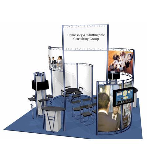 Hyperlite Hybrid Truss / Extrusion Display System - 20 x 20 Alpina