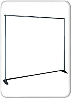 Jumbo Adjustable Banner Stand - Hardware Only