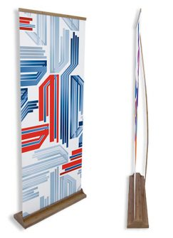 Roll Up Bamboo Retractable Banner Stand