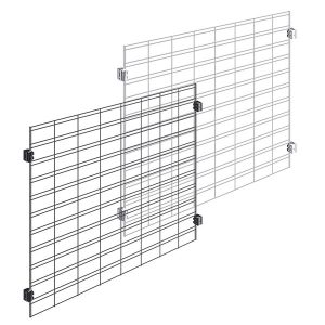 Slat Grid Merchandising Display Panels