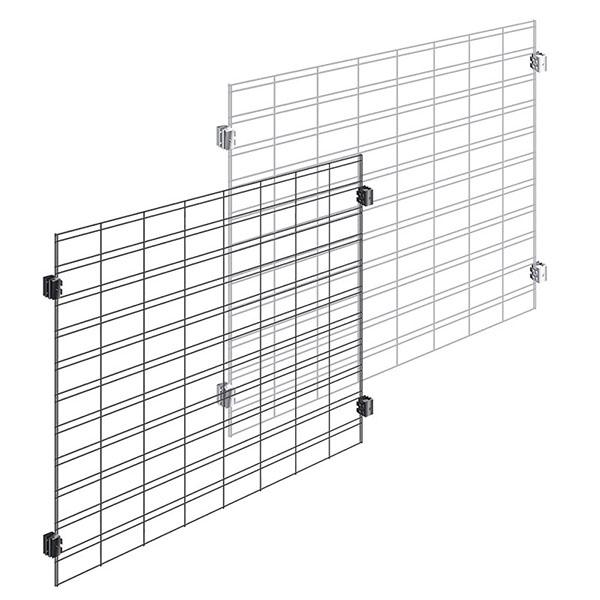 Slat Grid Merchandising Display Panels