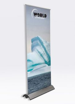 Supreme Telescoping Retractable Banner Stand