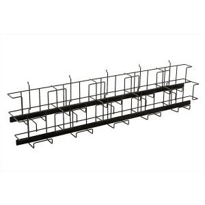Wire Magazine Rack For Slatwall - Black