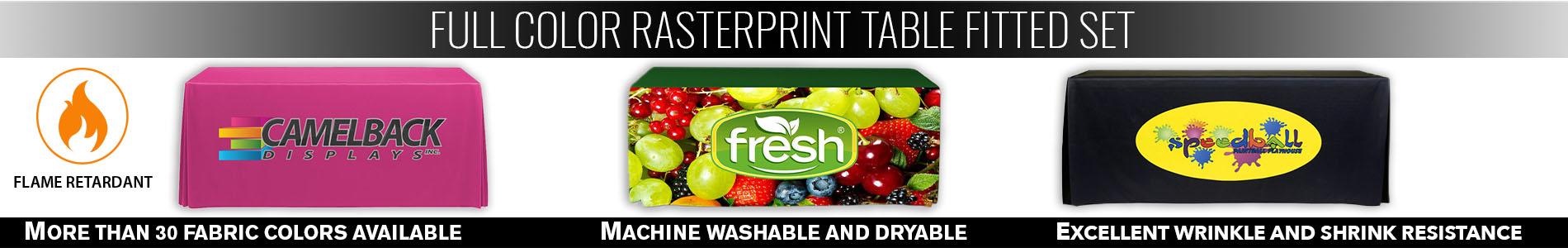 Full Color Rasterprint Table Fitted Set