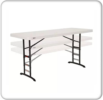 6ft Almond Commercial Adjustable Height Folding Table button