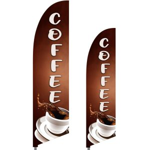 Bowflag® Stock Design Coffee Feather Flag