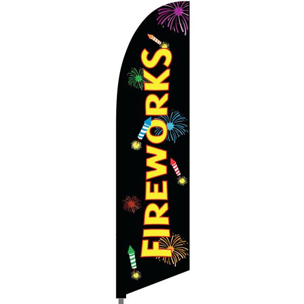 Bowflag® Stock Design Fireworks Feather Flag