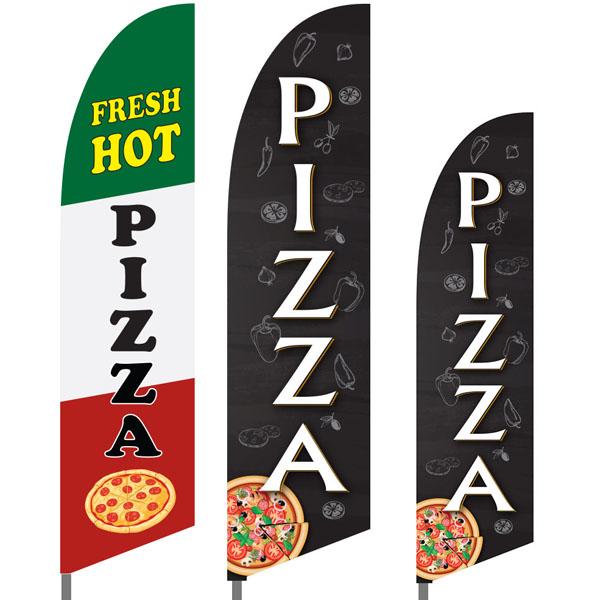 Bowflag® Stock Design Pizza Feather Flag