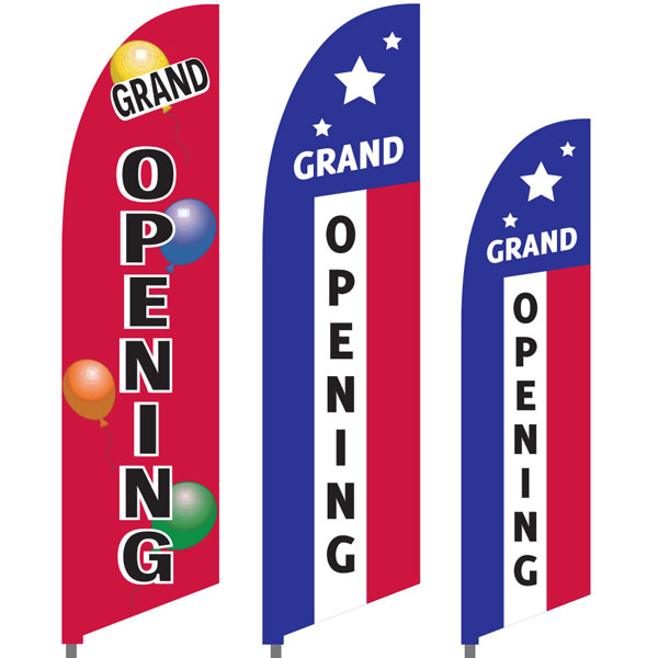 Bowflag® Stock Design Grand Opening Feather Flag