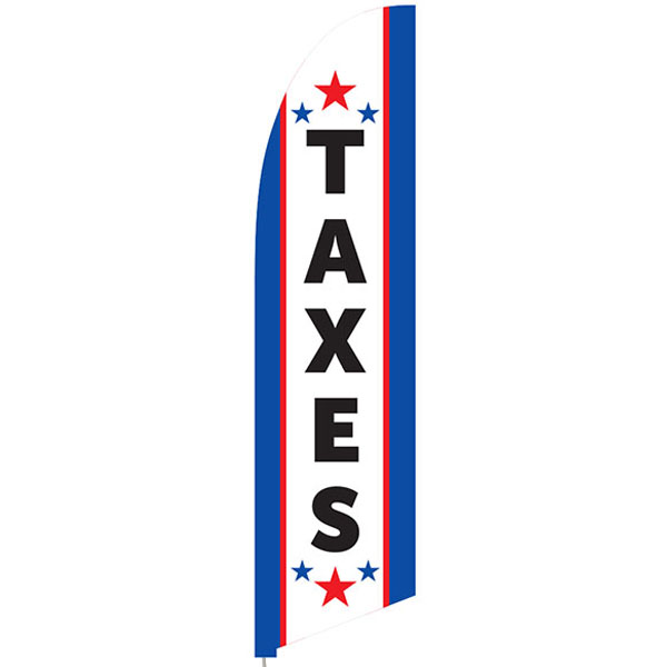 Bowflag® Stock Design Tax Service Feather Flag