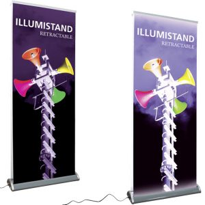Illumistand Double Sided Light Up Retractable Banner