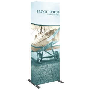 2.5' Backlit HopUp Tension Fabric Display