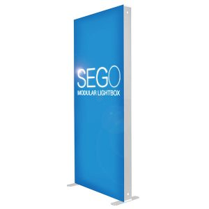 3' x 7' SEGO Modular Lightbox Exhibit Display With SEG Fabric Graphics